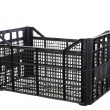 Black fruits and vegetable plastic crates — Stock Photo #59712241