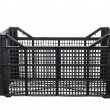 Black fruits and vegetable plastic crates — Stock Photo #59712245