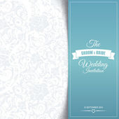 Wedding invitation card editable with background chevron — ストックベクタ