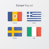 European countries flat flags — Stock Vector