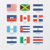 World flags. North America — Stock Vector