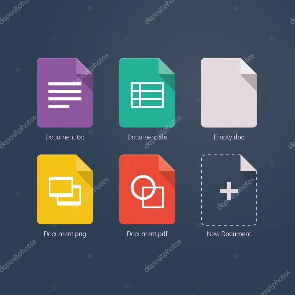 设置文档文件格式和标签图标 — 图库矢量图像08 dr