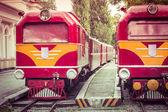 Vintage Train Engine Front Closeup — Stock Photo