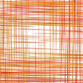 Abstract red curved stripes color line background — Vector de stock