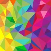 Rainbow color triangular vector pattern abstract background — Stock Vector