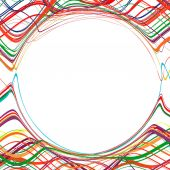 Abstract rainbow curved stripes color line background — Stok Vektör