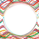 Abstract rainbow curved stripes color line background — Stockvektor