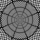 Vector illustration black and white chess background — Vetor de Stock