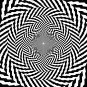 Vector illustration of optical illusion black and white hypnotic chess background — Vecteur