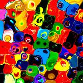 Abstract rainbow colorful tiles mozaic paint geometric pallette background — Photo