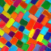 Abstract rainbow color paint tiles pattern art background — Photo