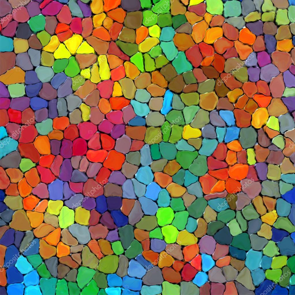 아트 무지개 색깔 돌 벽 텍스처 페인트 배경 — 스톡 사진 ...