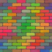 Abstract color paint pattern art brick wall background — Photo