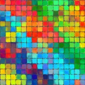 Abstract rainbow color paint mozaic pattern art background — Photo