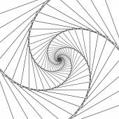 Abstract spiral lines black and white vector background — Stock Vector