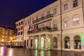 Vista del Municipio di Rijeka - Croazia — Foto Stock