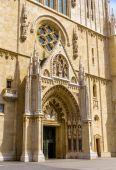 Entrance of Zagreb Cathedral - Croatia — Stock Photo