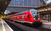 Regional express train in Frankfurt am Main station, Germany — Stock Photo
