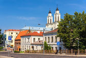 View of Church of St. Francis Xavier in Kaunas, Lithuania — Stock Photo