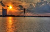 Vansu Bridge in Riga, Latvia — Stock Photo