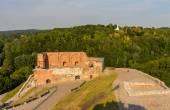 Remains of Vilnius castle, Lithuania — Stock Photo
