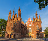 Church of St. Francis of Assisi in Vilnius, Lithuania — Stock Photo