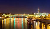 Bogdan Khmelnitsky (Kievsky) Pedestrian Bridge in Moscow — Stock Photo
