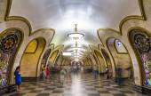 Novoslobodskaya, a station of Moscow subway — Stock Photo