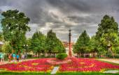 Flowerbed in Tsvetnoy boulevard - Moscow, Russia — Stock Photo