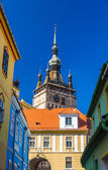 Clock tower in Sighisoara, Romania — Stock Photo
