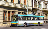 Old trolleybus in Bucharest - Romania — Stock Photo