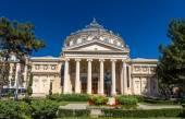 Romanian Athenaeum in Bucharest, Romania — Stock Photo