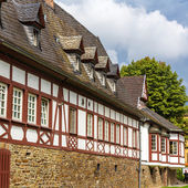Traditional german helf-timbered house in Koblenz — Stock Photo