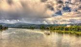 Река Рейн под Кобленцем, Германия — Стоковое фото