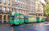BASEL, SWITZERLAND - NOVEMBER 03: Be 4-4 SWP tram in the city ce — Stock Photo