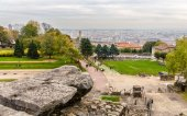 View of Lyon from Archaeological Site of Fourviere - France — Stock Photo