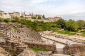 Ancient Theatre of Fourviere in Lyon, France — Stock Photo