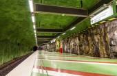 STOCKHOLM, SWEDEN - MAY 30: Interior of Kungstradgarden metro st — Stock Photo