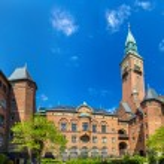 Courtyard of Copenhagen City Hall - Denmark — Stock Photo #65725887