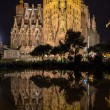 BARCELONA, SPAIN - NOVEMBER 09: Night view of Sagrada Familia ch — Stock Photo #65728849