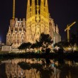 BARCELONA, SPAIN - NOVEMBER 09: Night view of Sagrada Familia ch — Stock Photo #65728853
