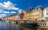 Kopenhagen, Dänemark - Mai 29: Boote in Nyhavn am 29. Mai 2014 in — Stockfoto