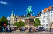 COPENHAGEN, DENMARK - MAY 29: View of Absalon statue on May 29,  — Stock Photo
