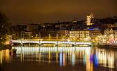 Old town of Zurich at night - Switzerland — Stock Photo