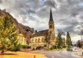Vista de la Catedral de St Florin en Vaduz - Liechtenstein — Foto de Stock