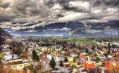 View of Sargans village in Swiss Alps — Φωτογραφία Αρχείου