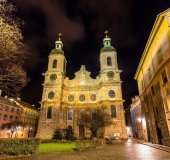 Cathedral of St. James of Innsbruck - Austria — Stock Photo