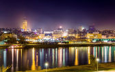 View of Belgrade downtown at night - Serbia — Stock Photo