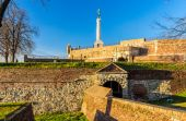 The Victor (Pobednik) Monument in the Belgrade Fortress - Serbia — Stock Photo