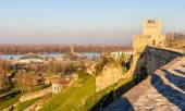 View on the Danube from Belgrade Fortress - Serbia — Stock Photo